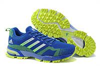 Мужские кроссовки Adidas Marathon TR15 синие с желтым