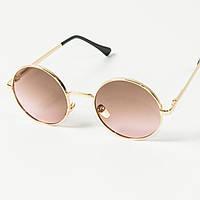 Круглые солнцезащитные очки (арт. 80-668/4) коричнево-розовый