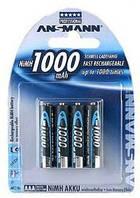 4шт аккумулятора мизинчик Ansmann AAA 1000 mAh