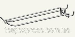Крючок двойной 150 мм с ценникодержателем