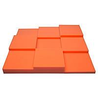 Панель из акустического поролона Ecosound Pattern Orange 60мм, 60х60см цвет оранжевый, фото 1