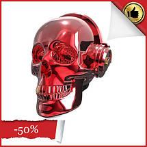 Портативная Bluetooth колонка, Колонка череп OneDer, красный, фото 3