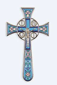 ХРЕСТ НАПРЕСТОЛЬНИЙ №4-1 МАЛЬТІЙСЬКА ЕМАЛЬ НІКЕЛЬ