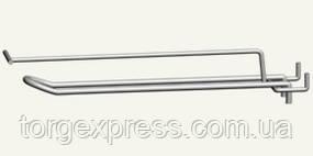 Крючок двойной 250 мм с ценникодержателем
