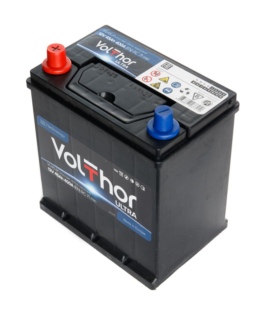 Аккумулятор Volthor 6СТ-45-АЗ (0) Asia