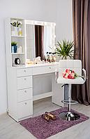 Стол гримерный с зеркалом, тумбой и подсветкой СВ-8