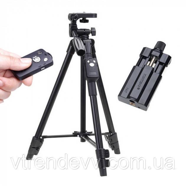 Штатив трипод с пультом ДУ профессиональный для камеры и телефона Yunteng VDT 5208 Tripod