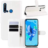 Чехол-книжка Litchie Wallet для Huawei P20 Lite 2019 / Nova 5i White