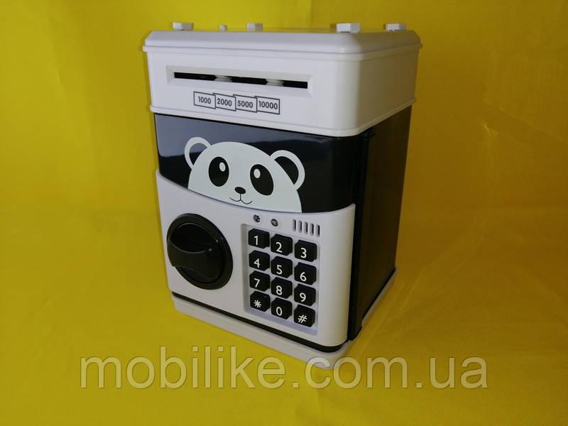 Копилка сейф - практичная игрушка с кодом в форме банка с пандой Hello Kitty