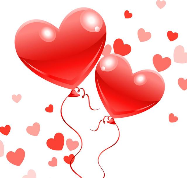 воздушные шарики в виде сердца