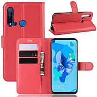 Чехол-книжка Litchie Wallet для Huawei P20 Lite 2019 / Nova 5i Red