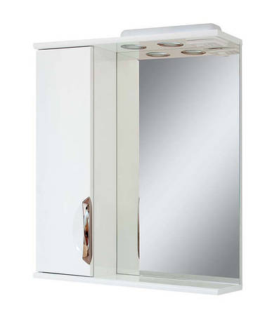 Зеркало для ванной комнаты Альвеус 65-01 Врезная ручка левое ПИК, фото 2