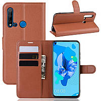 Чехол-книжка Litchie Wallet для Huawei P20 Lite 2019 / Nova 5i Brown, фото 1
