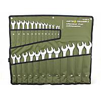 Набор ключей рожково-накидных 25 шт (6-32 мм) на полотне