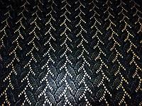 Трикотаж Ажурная фантазия (черный) (арт. 2210) отрезы 0,45 + 1,0 м