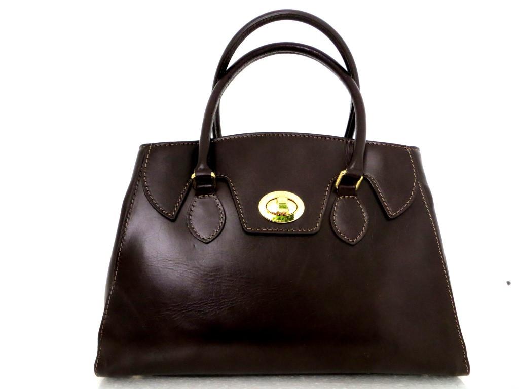 Стильная женская сумка 100% натуральная кожа. Италия. Шоколадный.