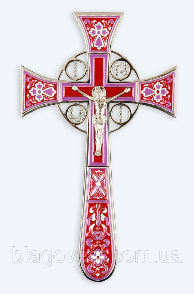 ХРЕСТ НАПРЕСТОЛЬНИЙ №4-2 МАЛЬТІЙСЬКА ЕМАЛЬ ЗОЛОЧЕННЯ