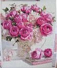 Алмазная вышивка, букет роз 40х50 см, квадратные стразы, полная выкладка, фото 2
