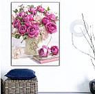 Алмазная вышивка, букет роз 40х50 см, квадратные стразы, полная выкладка, фото 3