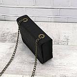 Сумка piton lady чёрная из натуральной кожи с оттиском, фото 9