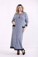 Светлое платье в пол / Размеры от 42 до 74 голубой