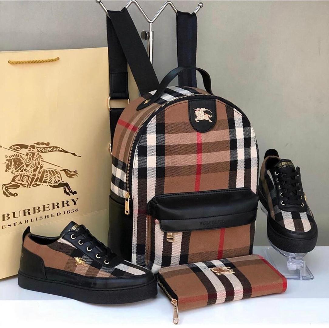 Набір: сумка, взуття, гаманець Бербері