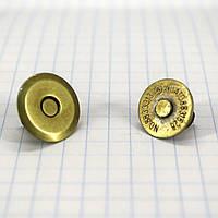 Кнопка магнит 15 мм на усиках антик для сумок t5000 a4259 (20 шт.)