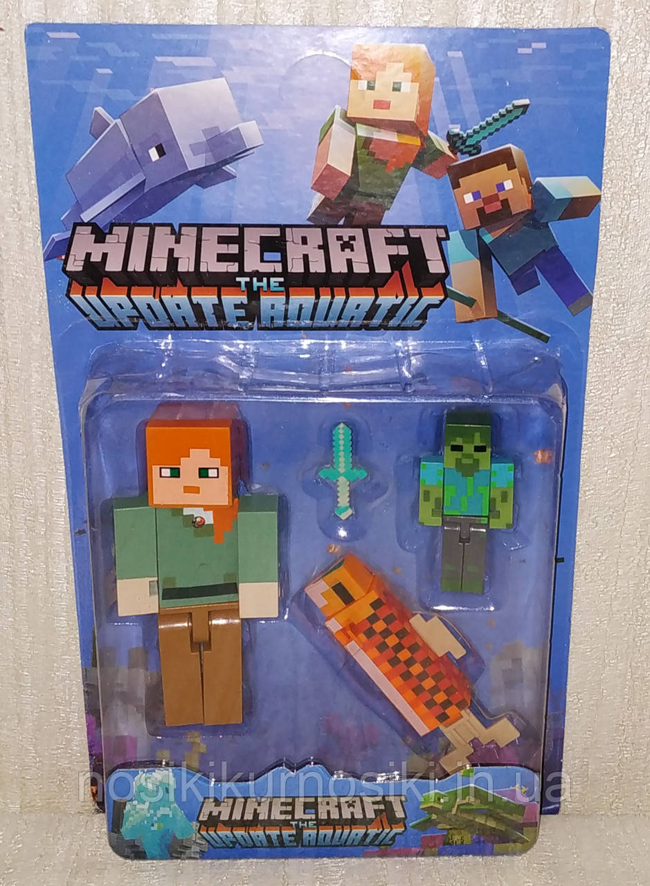 Фигурки Minecraft Герои Майнкрафт — 3 фигурки, подсветка, 19005-2.3