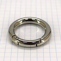 Кольцо карабин 25*5 мм никель для сумок a5666 (8 шт.)