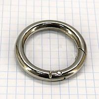 Кольцо карабин 30*5 мм никель для сумок a5669 (8 шт.)