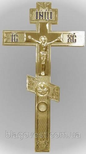 Крест напрестольный 2-1 золоч.