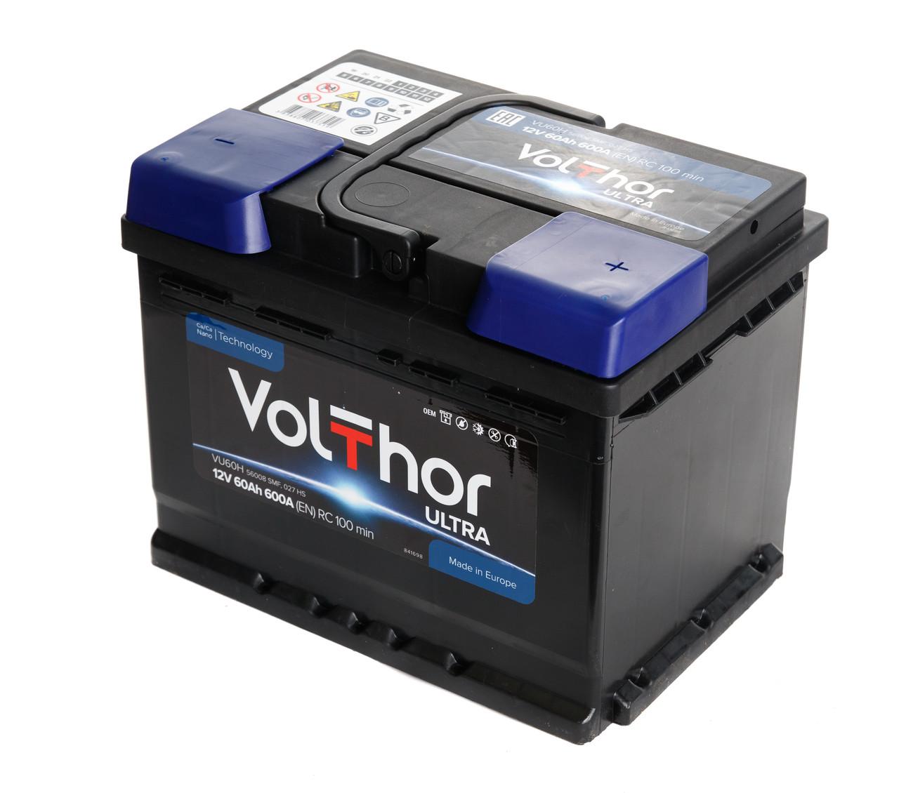Аккумулятор Volthor Ultra 6СТ-60-АЗ (0)