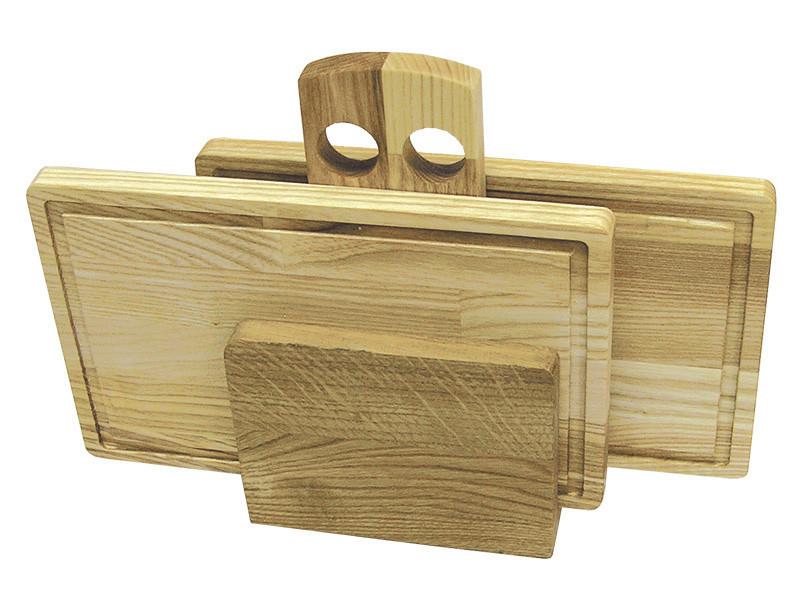 Набор разделочных досок со сточным желобком 270*170*16 мм 2 шт.