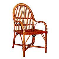 Кресло плетеное КО-5. Кресло из лозы.