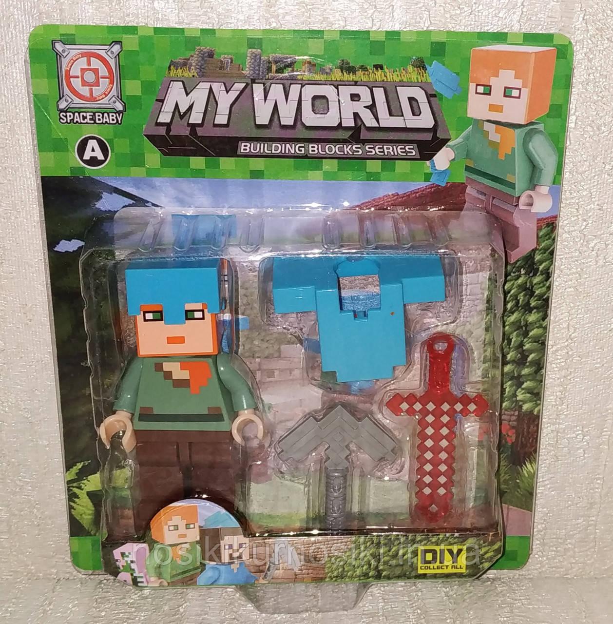 Фигурки Minecraft Герои Майнкрафт — 1 фигурка, аксессуары, SM-2575.1