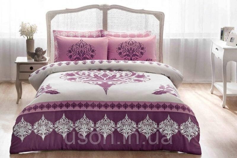 Комплект постельного белья сатин Tac размер евро  Venna murdum