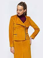 Весенняя куртка косуха оранжевая 44 46 48 50