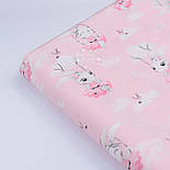"Сатин ткань ""Зайка на качеле"" на розовом фоне, № 2639с, фото 5"