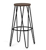 Барный стул-табурет SDM Белфрай Loft металлический каркас черный, деревянное сидение