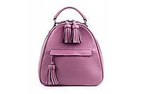 Женский рюкзак из натуральной кожи. Цвет: Фиолетовый