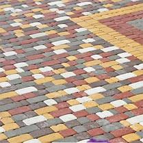 Тротуарная плитка «Старый город» 60/90/120/180х120 высота 40мм колор-микс, фото 3