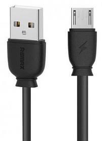 USB-кабель MicroUSB Remax (OR) RC-134m, быстрая зарядка, черный, 1м