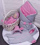 Демисезонный комплект одежды для новорожденных девочек Mini, 6-ти предметный, фото 2