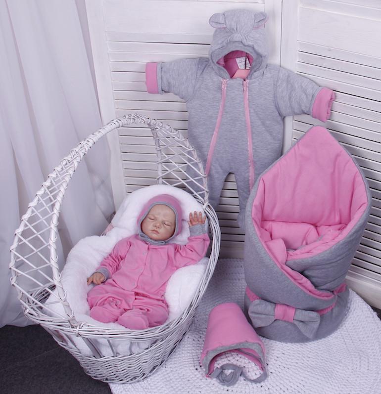 Демисезонный комплект одежды для новорожденных девочек Mini, 6-ти предметный