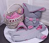 Демисезонный комплект одежды для новорожденных девочек Mini, 6-ти предметный, фото 3