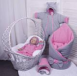 Демисезонный комплект одежды для новорожденных девочек Mini, 6-ти предметный, фото 7