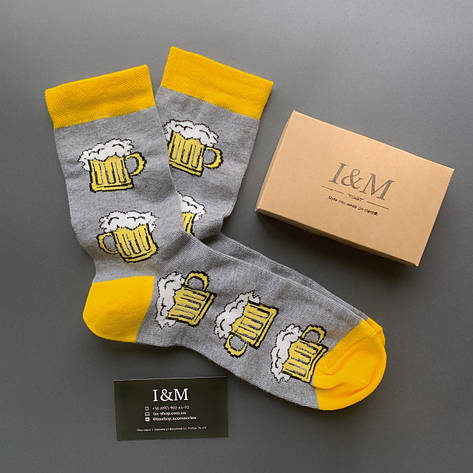 Носки I&M Craft Elegant's серые с пивом (070374), фото 2