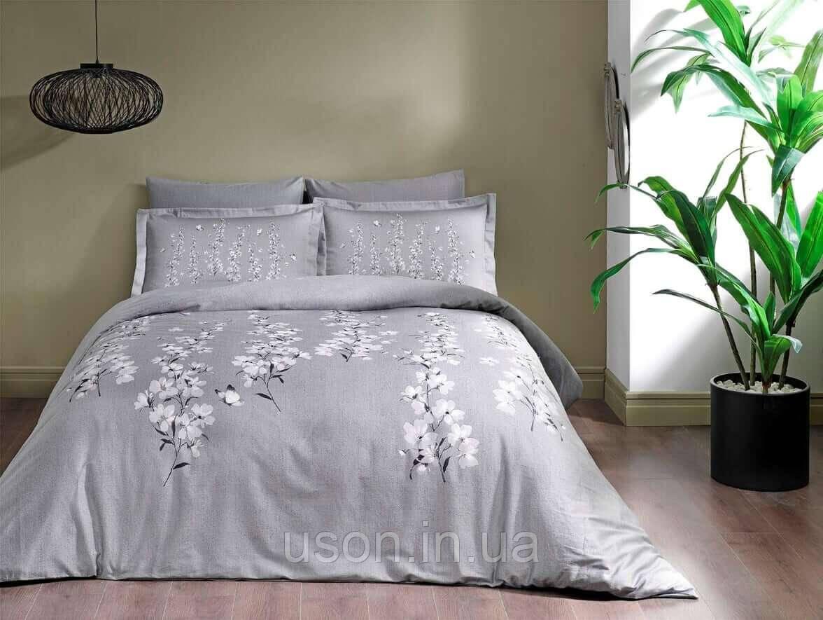 Комплект постельного белья сатин Tac размер евро  Ronna Gri