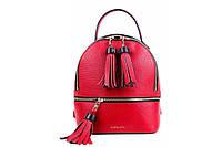 Женский рюкзак из натуральной кожи. Цвет: Красный, фото 1