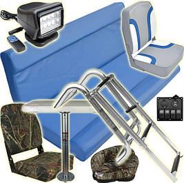 Судовое оборудование: кресла сиденья лестницы для лодки яхты катера прожектора столы переключатели